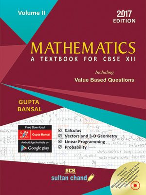 Mathematics - CBSE XII (Volume II)