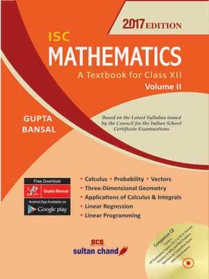 ISC Mathematics Class XII Volume II