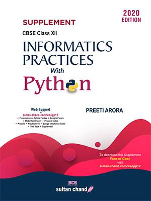 SUPPLEMENT -Informatics Practices  with Python -12